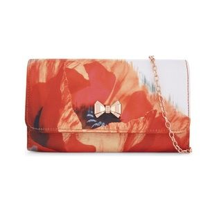 Ted Baker Chain Crossbody Bow Paint Floral